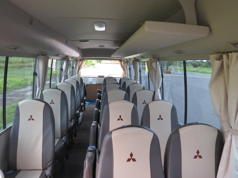 Toyota Coaster seats 20 passengers
