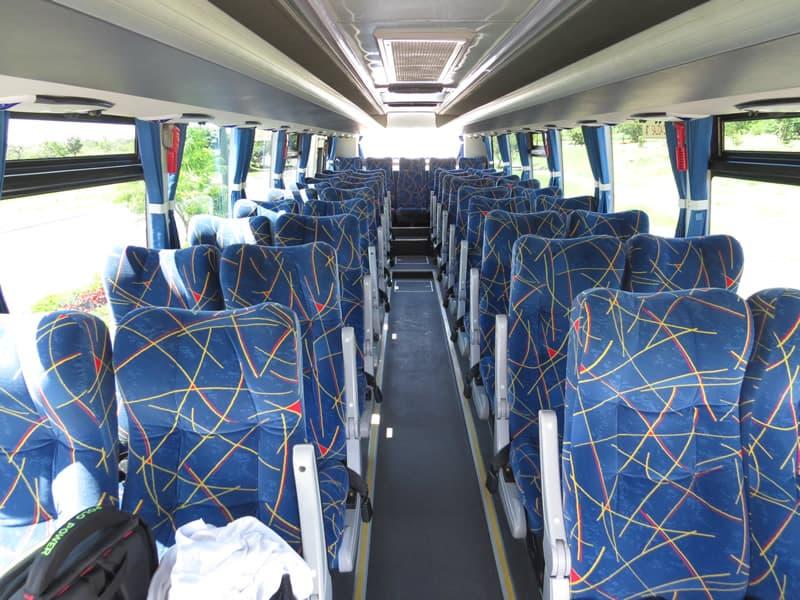 Bus 42 passengers seats view