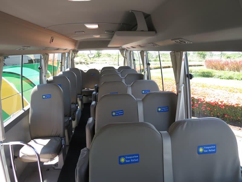 Toyota Coaster seats 25 passengers